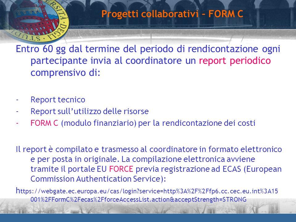 Progetti collaborativi – FORM C