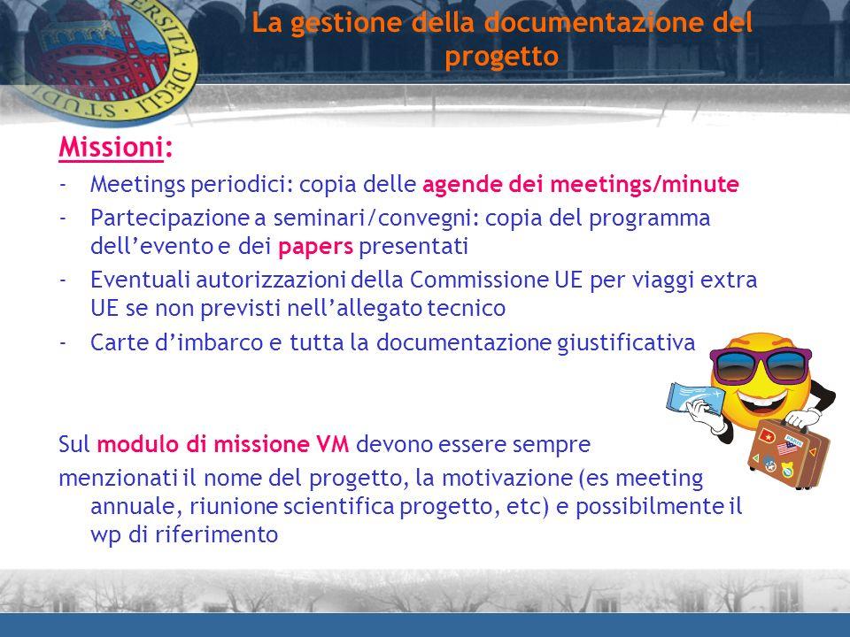 La gestione della documentazione del progetto