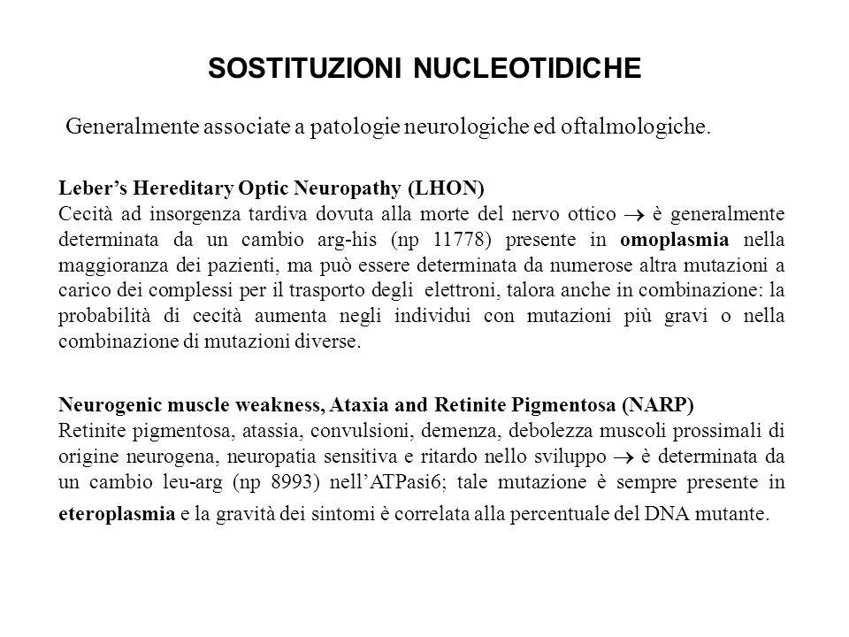 SOSTITUZIONI NUCLEOTIDICHE