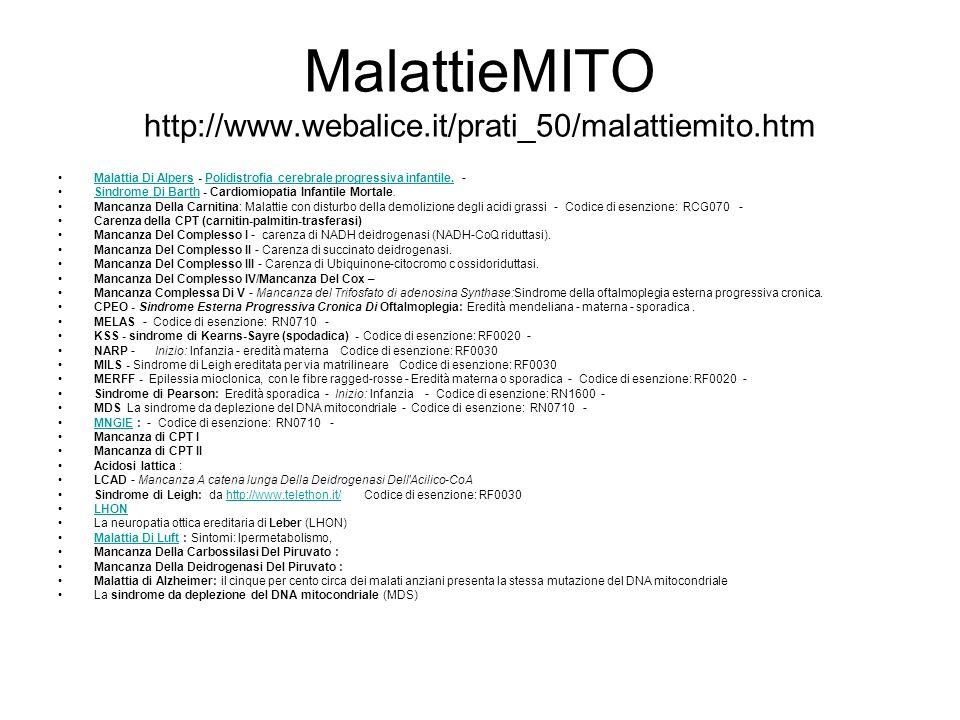 MalattieMITO http://www.webalice.it/prati_50/malattiemito.htm