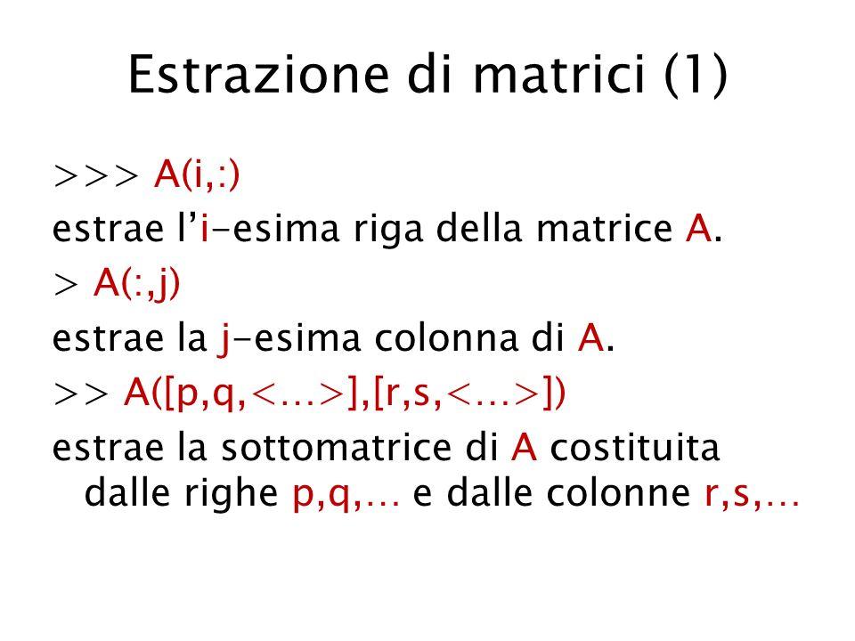 Estrazione di matrici (1)