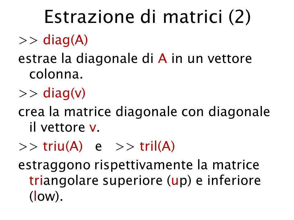 Estrazione di matrici (2)
