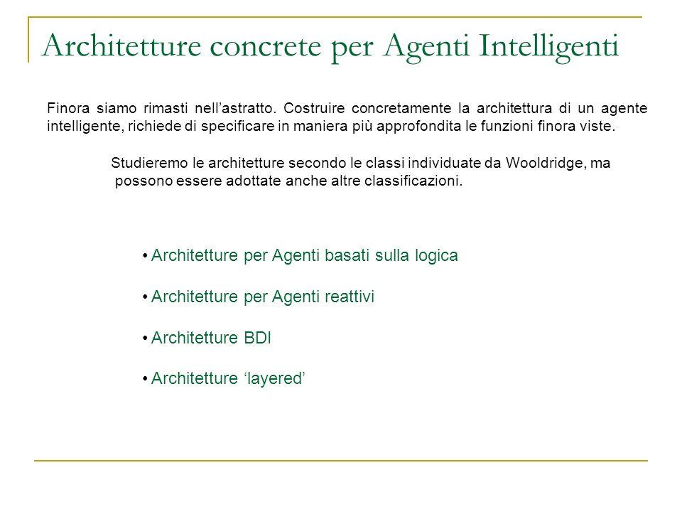Architetture concrete per Agenti Intelligenti