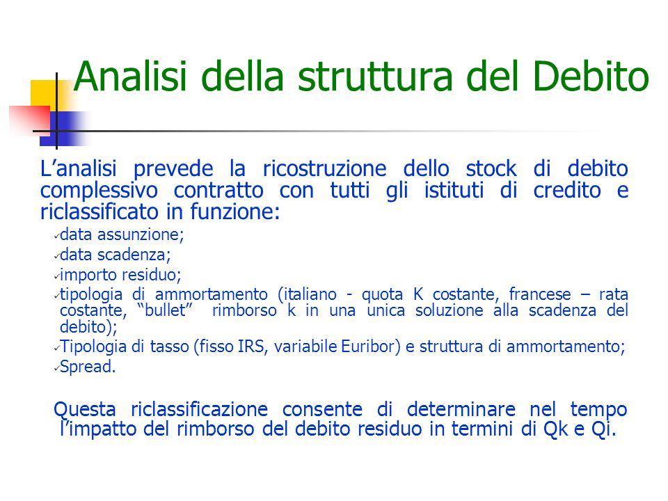 Analisi della struttura del Debito