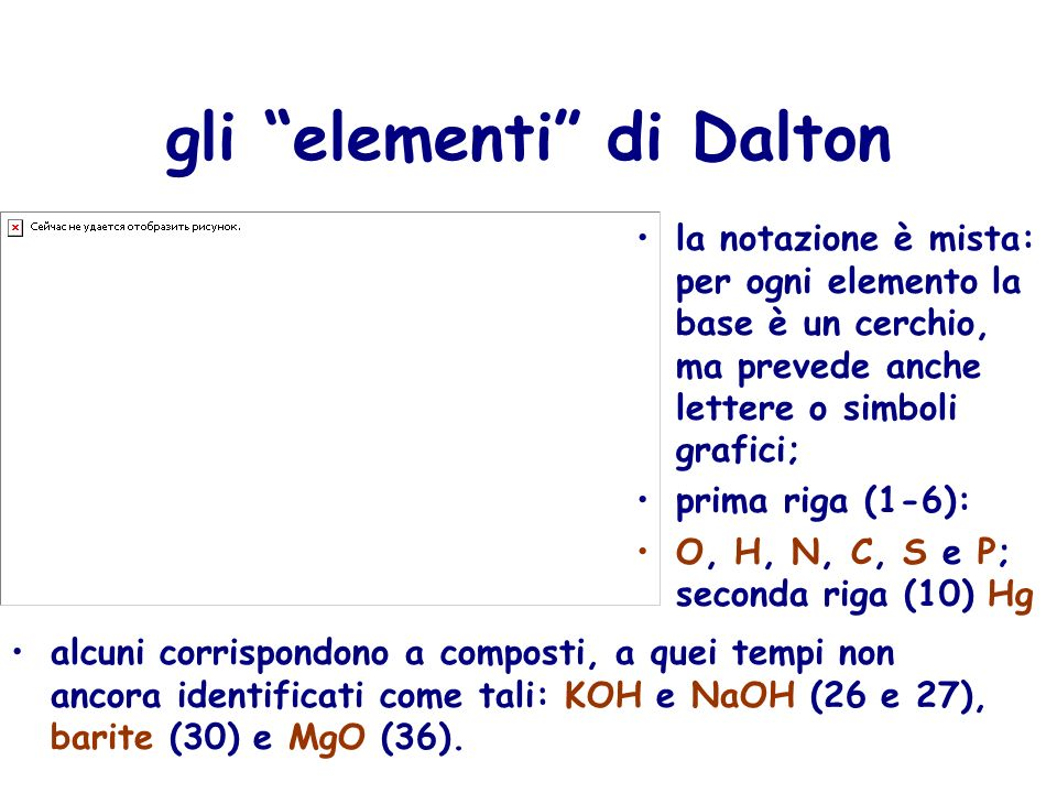 gli elementi di Dalton