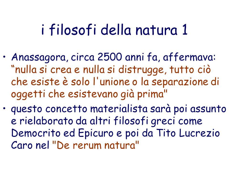 i filosofi della natura 1