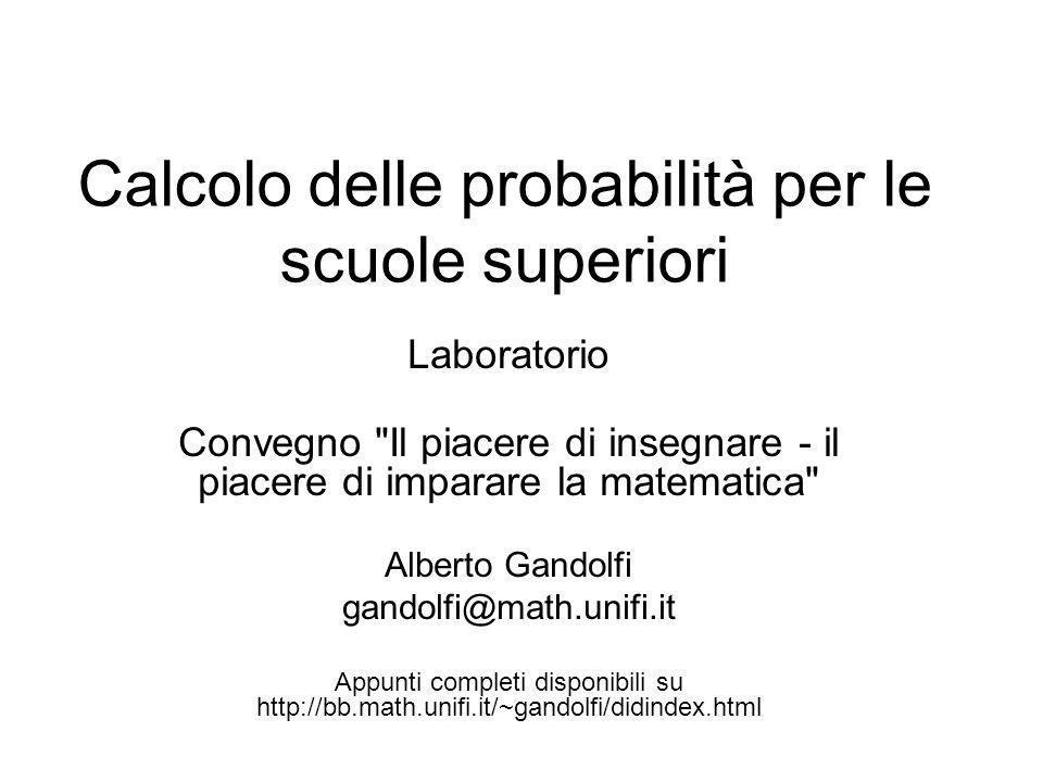 Calcolo delle probabilità per le scuole superiori