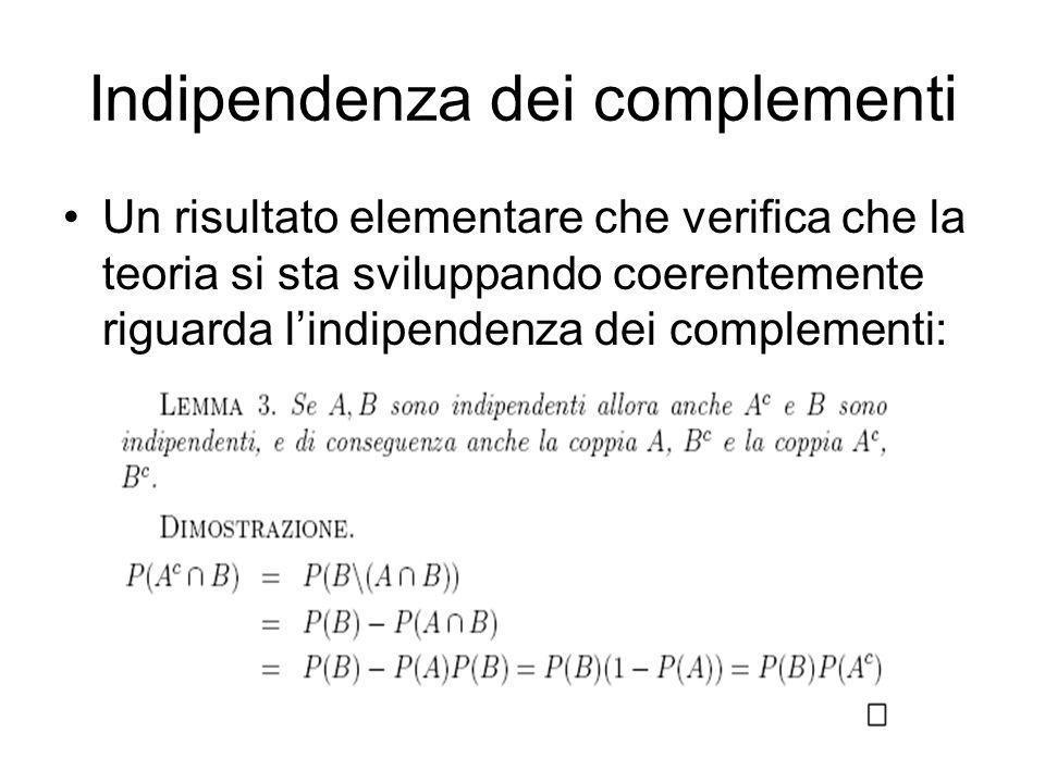 Indipendenza dei complementi