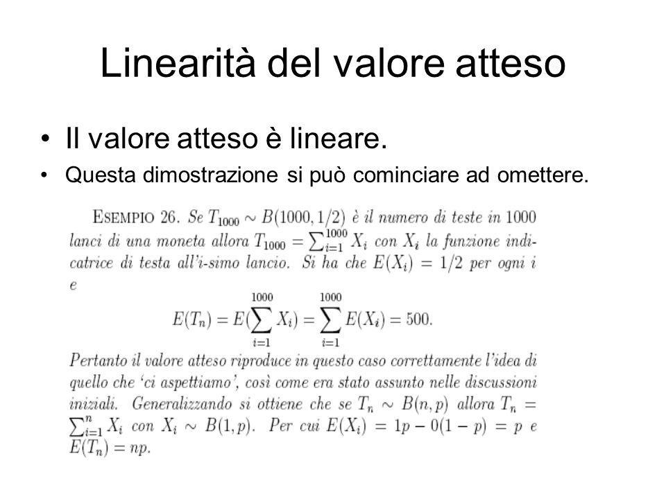 Linearità del valore atteso