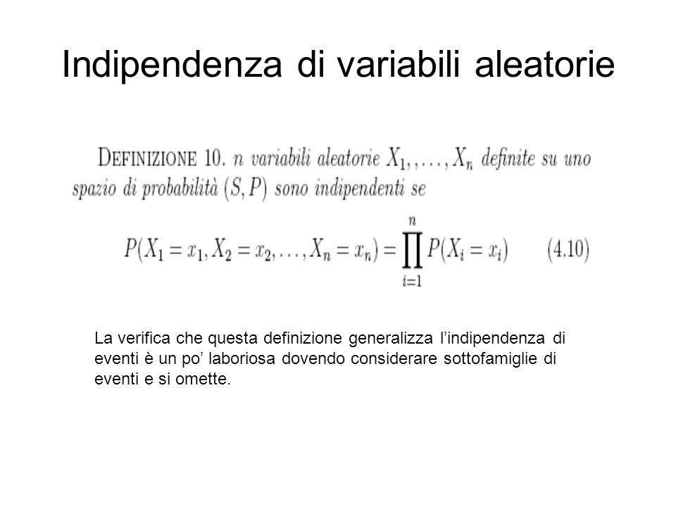 Indipendenza di variabili aleatorie