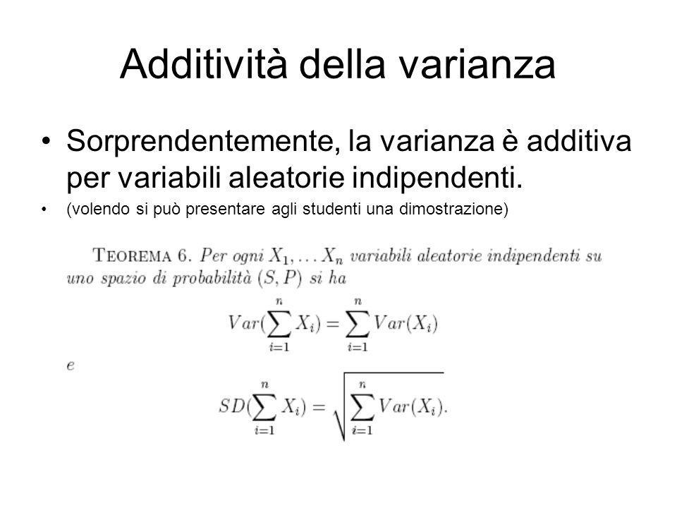 Additività della varianza
