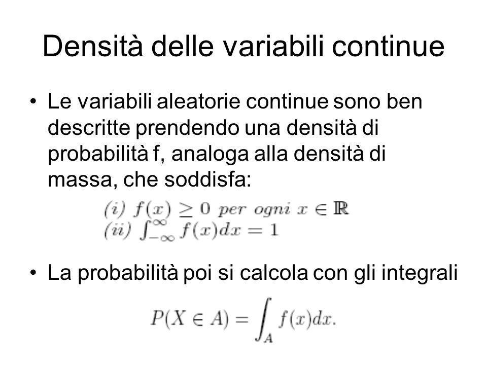 Densità delle variabili continue
