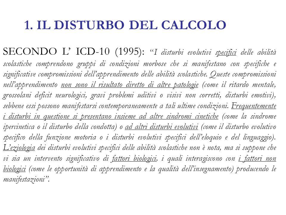 1. IL DISTURBO DEL CALCOLO