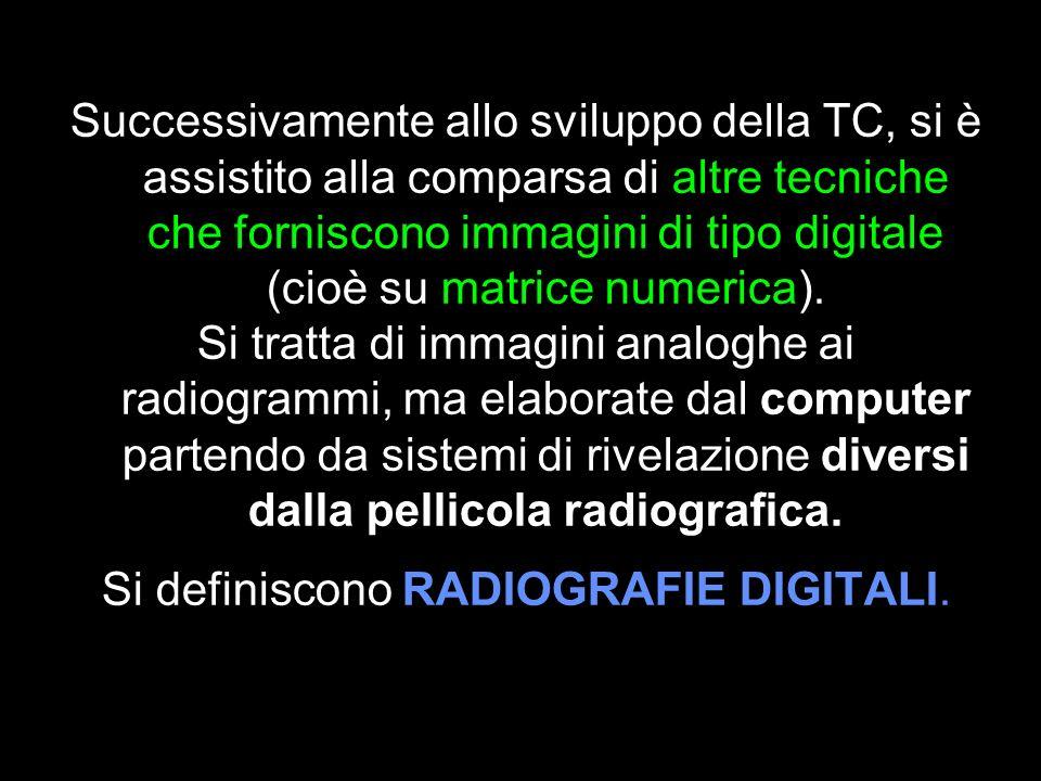 Si definiscono RADIOGRAFIE DIGITALI.