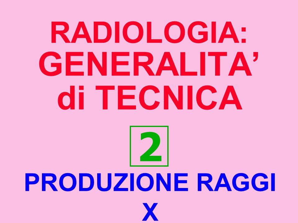 RADIOLOGIA: GENERALITA' di TECNICA