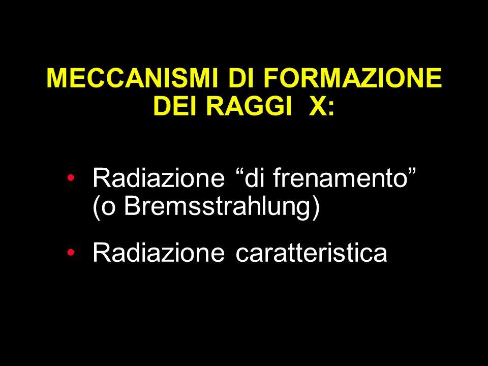 MECCANISMI DI FORMAZIONE DEI RAGGI X: