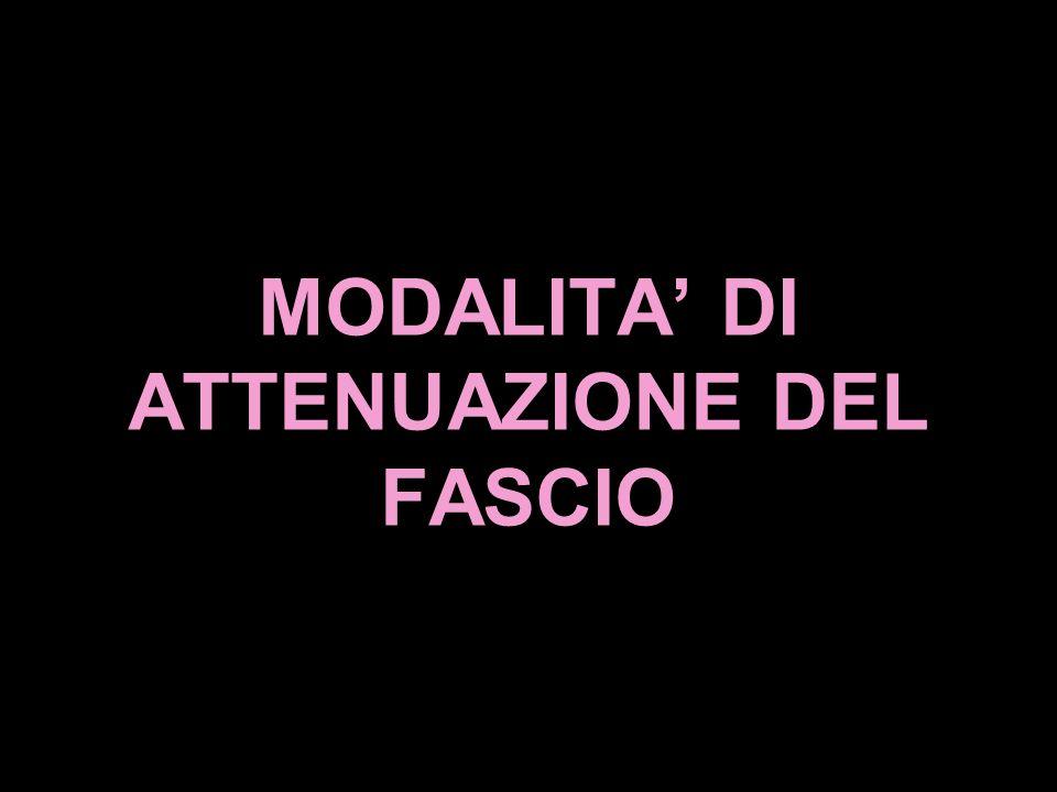 MODALITA' DI ATTENUAZIONE DEL FASCIO