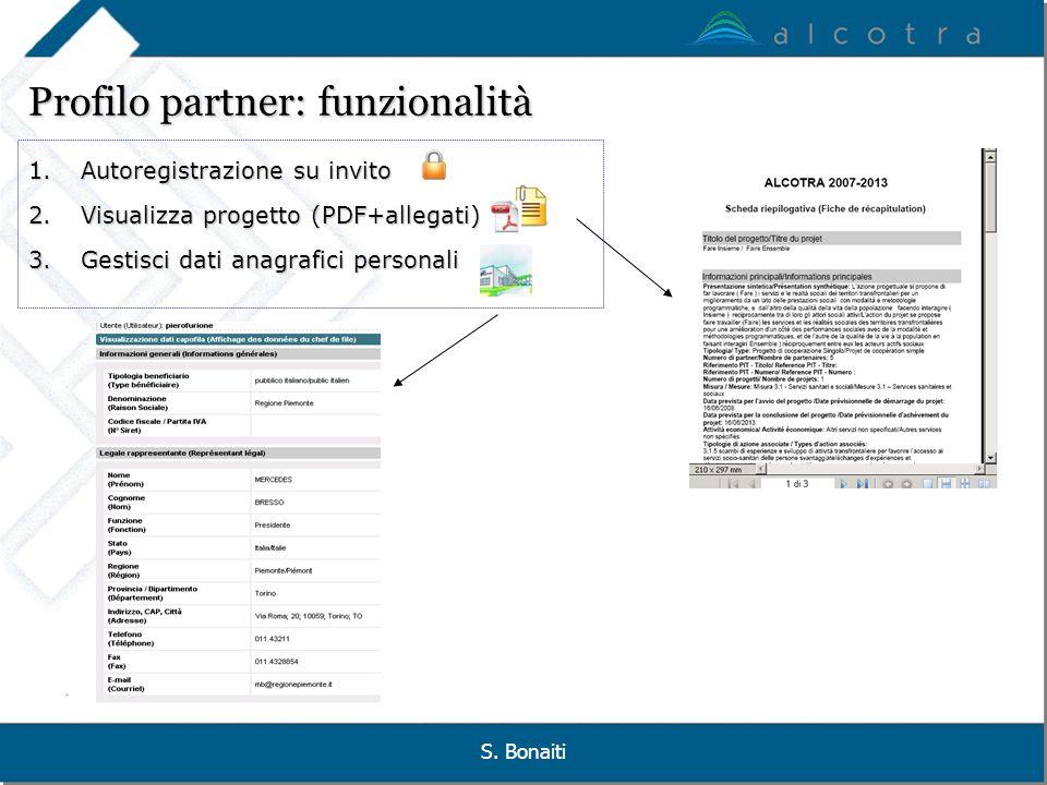 Profilo partner: funzionalità