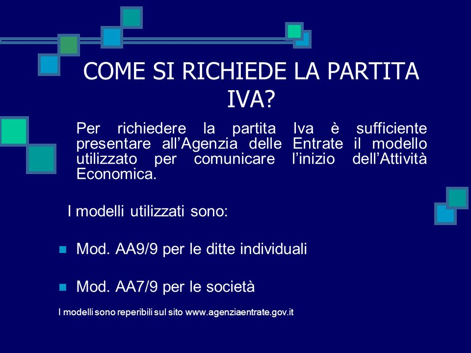 COME SI RICHIEDE LA PARTITA IVA