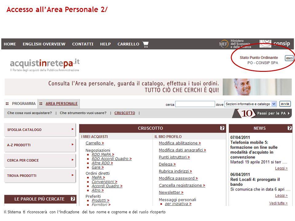 Accesso all'Area Personale 2/