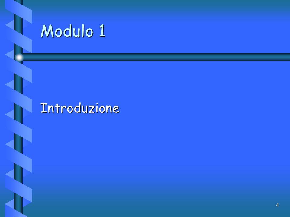 Modulo 1 Introduzione