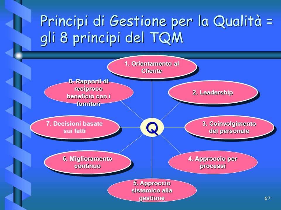 Principi di Gestione per la Qualità = gli 8 principi del TQM