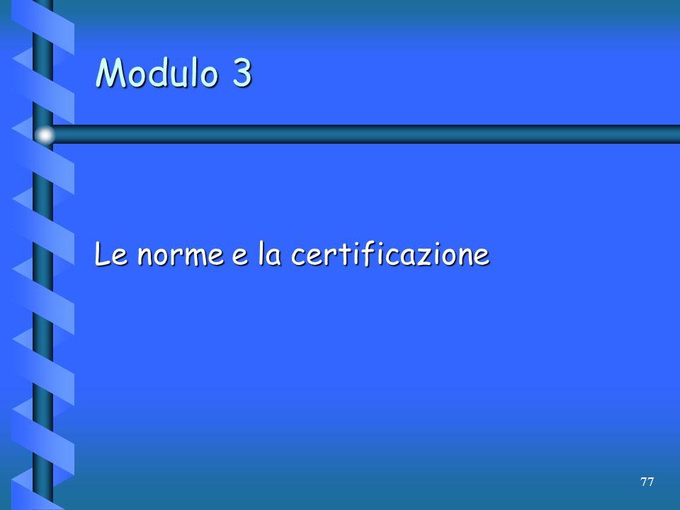Le norme e la certificazione