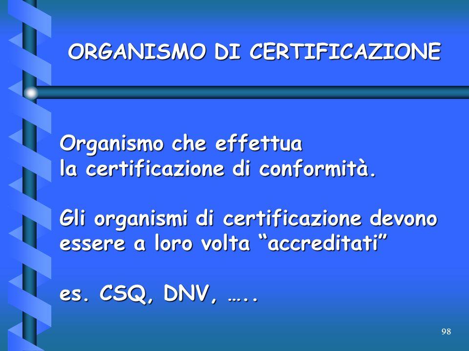 ORGANISMO DI CERTIFICAZIONE