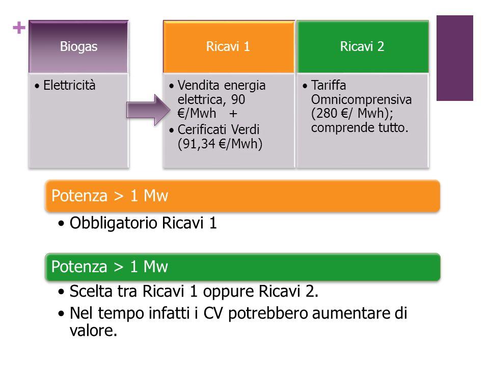 Scelta tra Ricavi 1 oppure Ricavi 2.