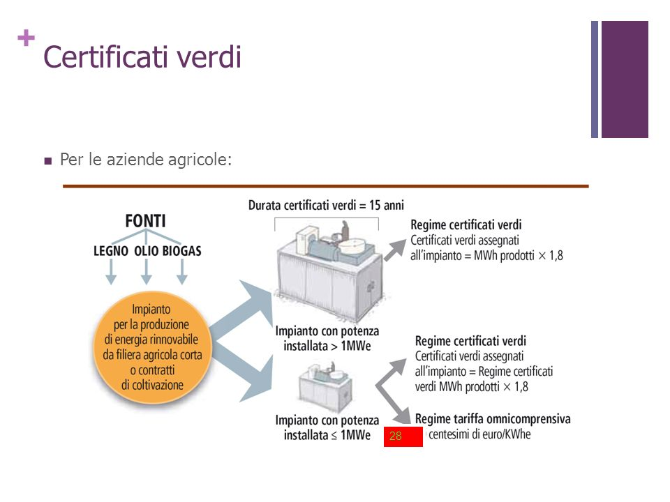 Certificati verdi Per le aziende agricole: 28