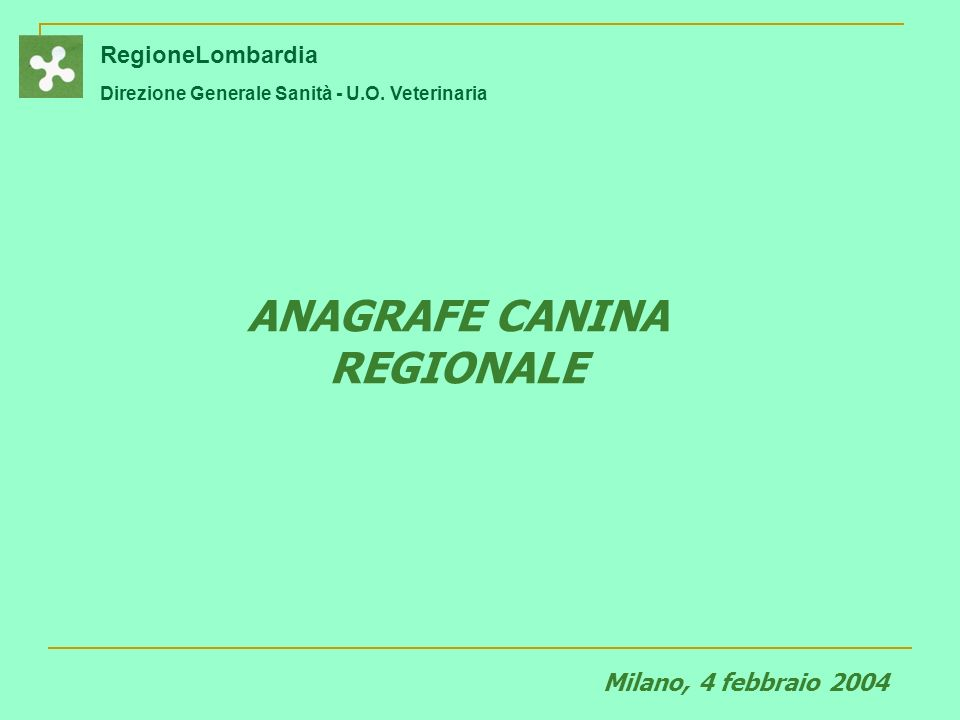 ANAGRAFE CANINA REGIONALE