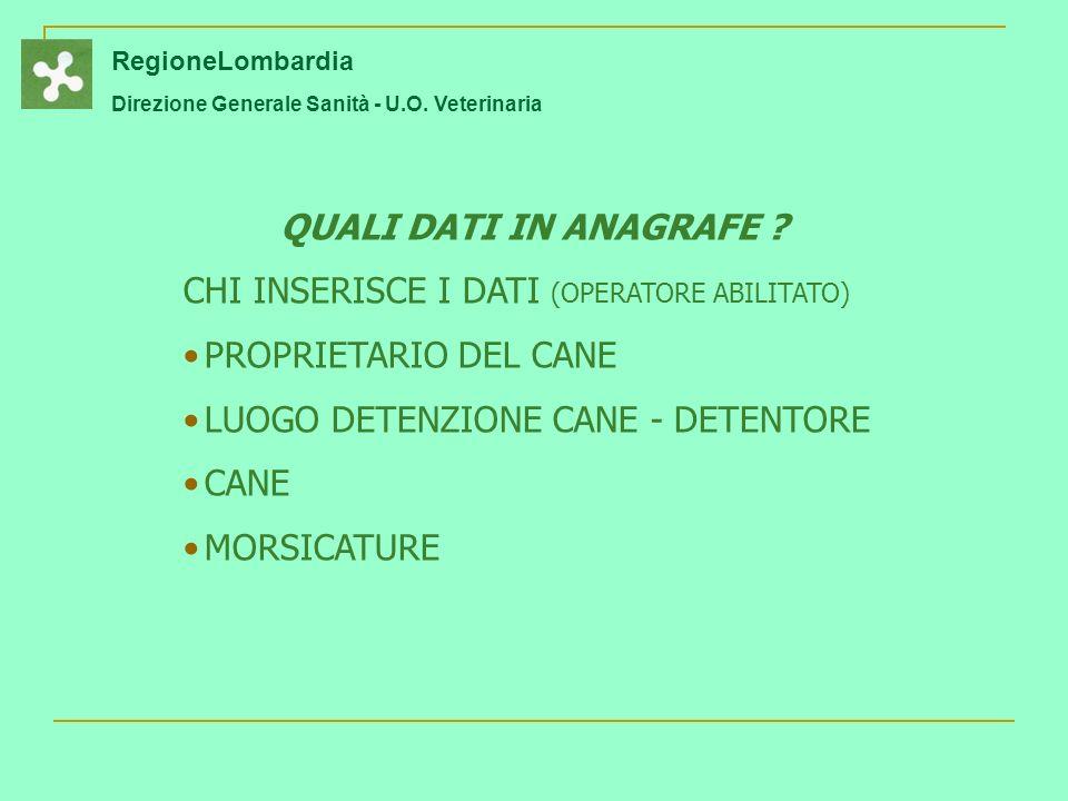 CHI INSERISCE I DATI (OPERATORE ABILITATO) PROPRIETARIO DEL CANE