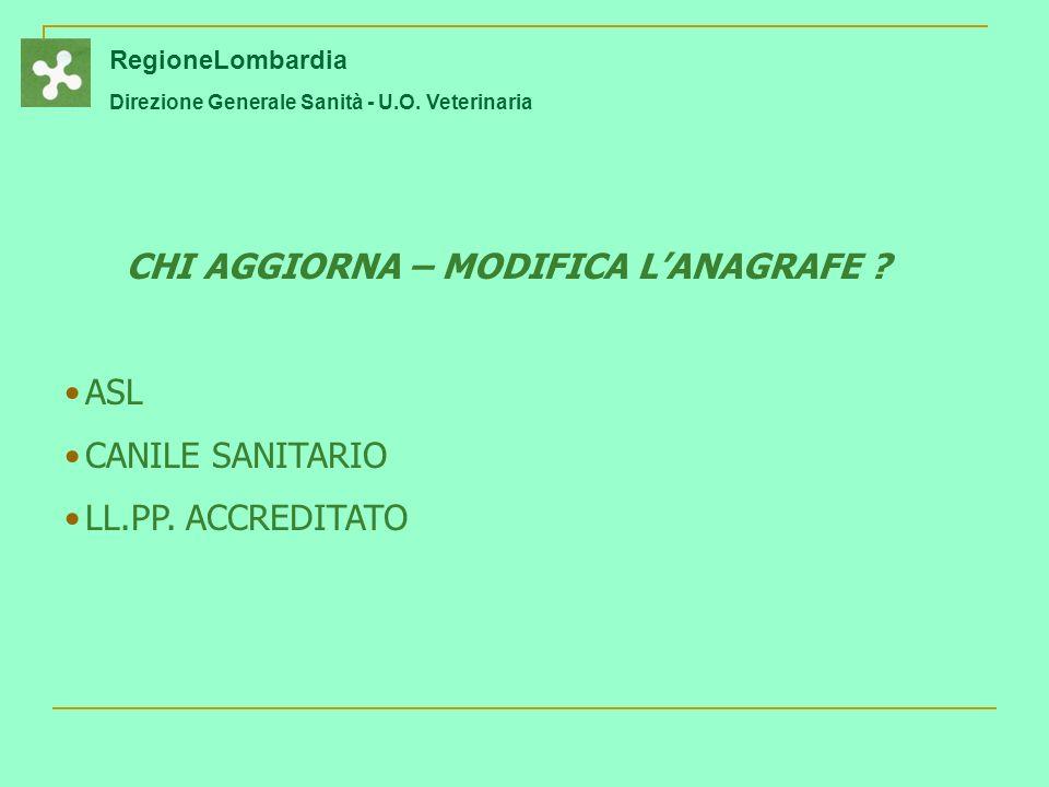 CHI AGGIORNA – MODIFICA L'ANAGRAFE