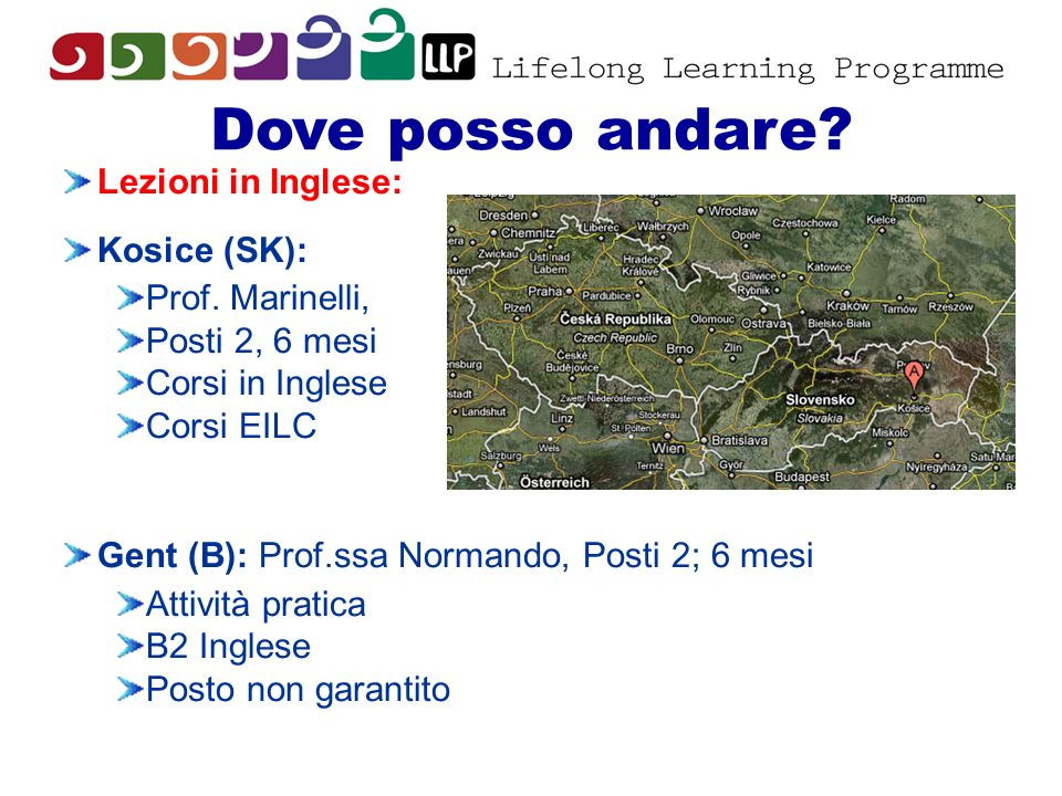 Dove posso andare Lezioni in Inglese: Kosice (SK): Prof. Marinelli,
