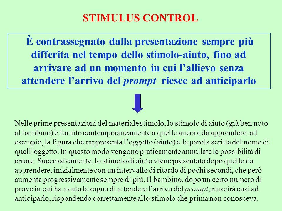 STIMULUS CONTROL