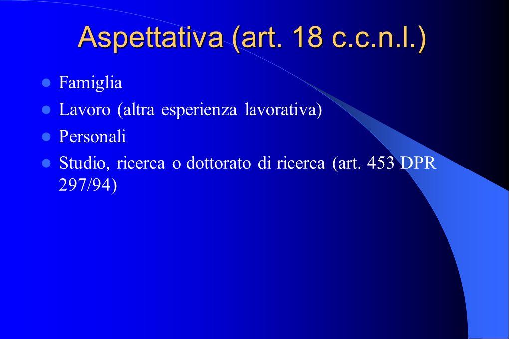 Aspettativa (art. 18 c.c.n.l.)