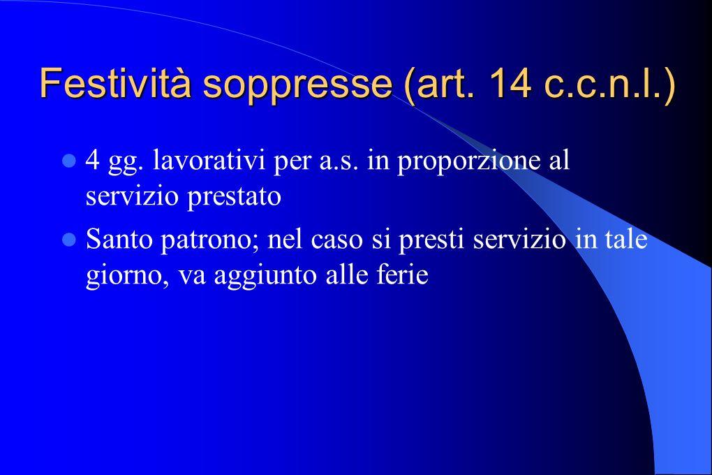 Festività soppresse (art. 14 c.c.n.l.)