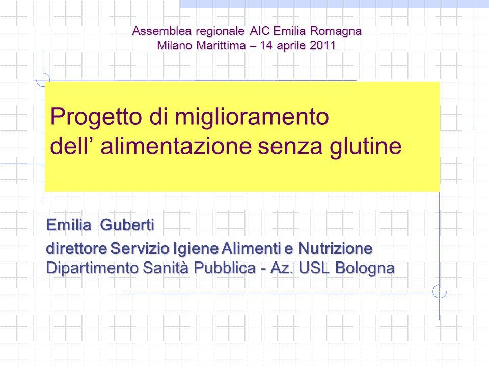 Progetto di miglioramento dell' alimentazione senza glutine