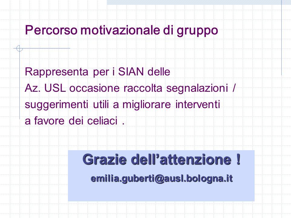 Percorso motivazionale di gruppo
