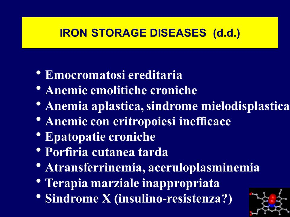 IRON STORAGE DISEASES (d.d.)