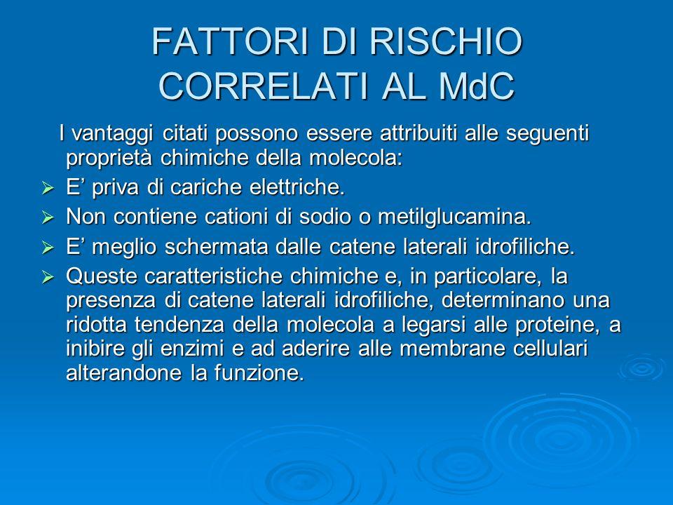 FATTORI DI RISCHIO CORRELATI AL MdC