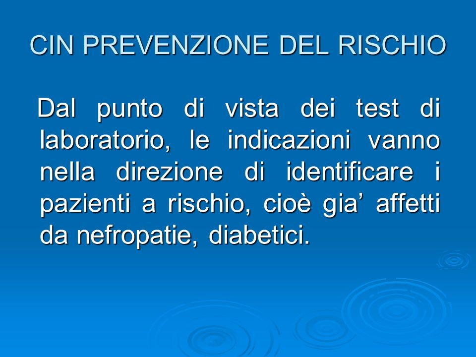 CIN PREVENZIONE DEL RISCHIO