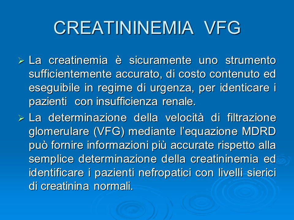 CREATININEMIA VFG