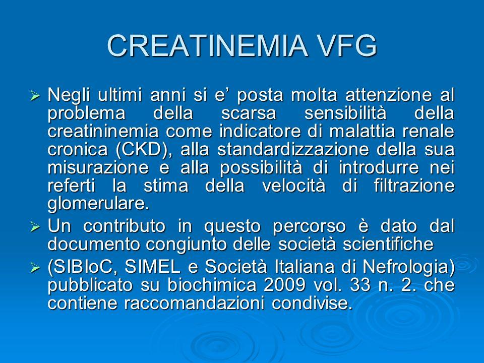 CREATINEMIA VFG