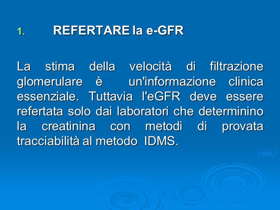 REFERTARE la e-GFR