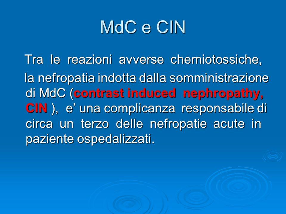 MdC e CIN Tra le reazioni avverse chemiotossiche,