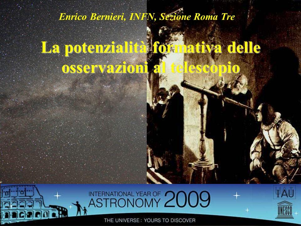 La potenzialità formativa delle osservazioni al telescopio
