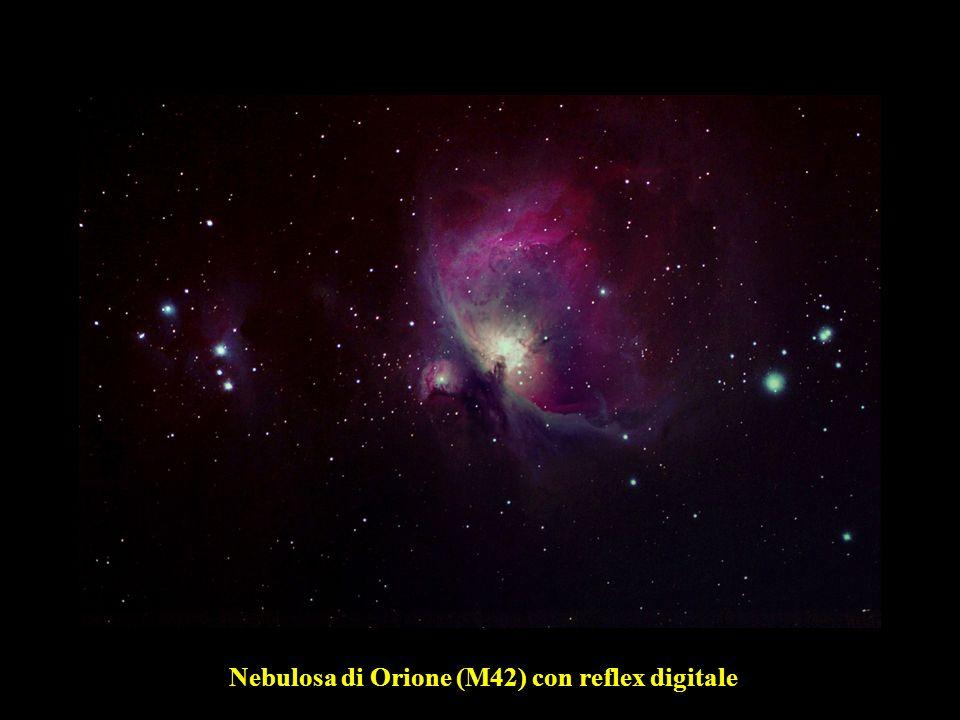 Nebulosa di Orione (M42) con reflex digitale