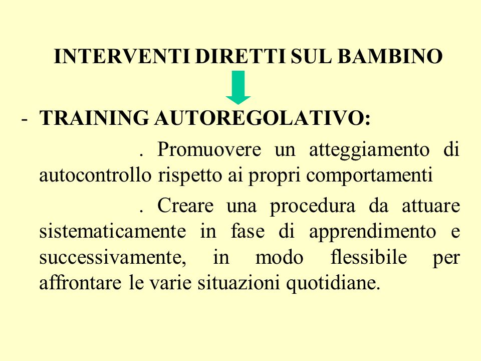 TRAINING AUTOREGOLATIVO: