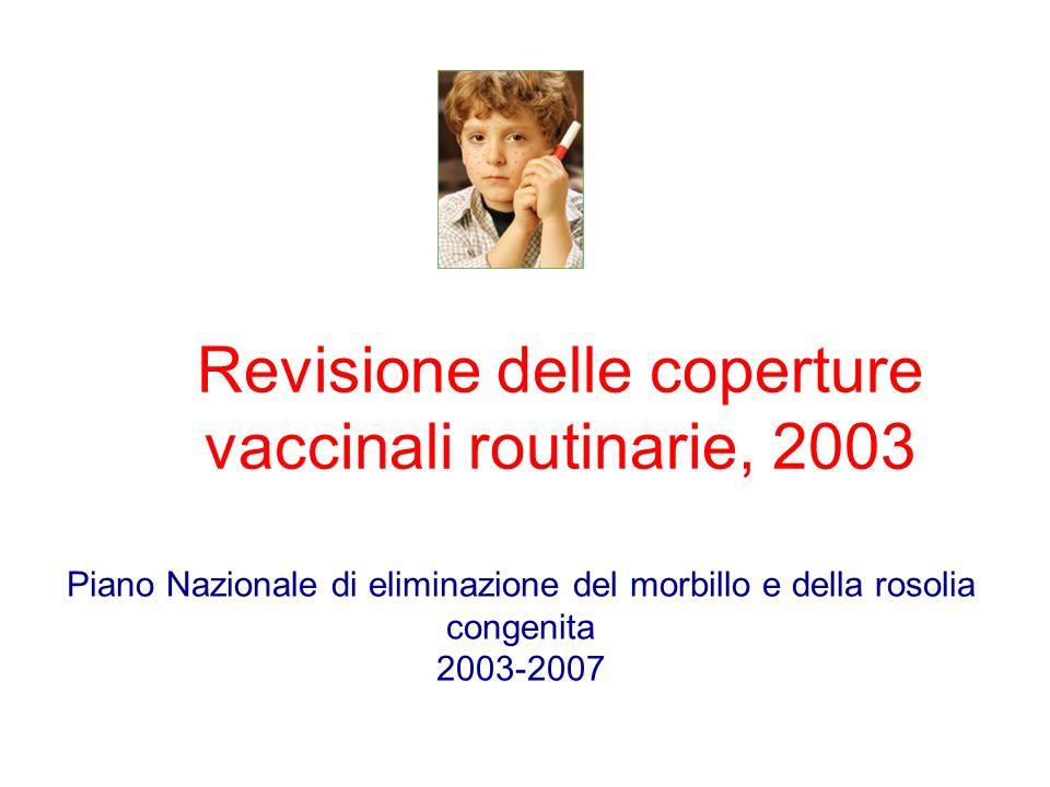 Revisione delle coperture vaccinali routinarie, 2003
